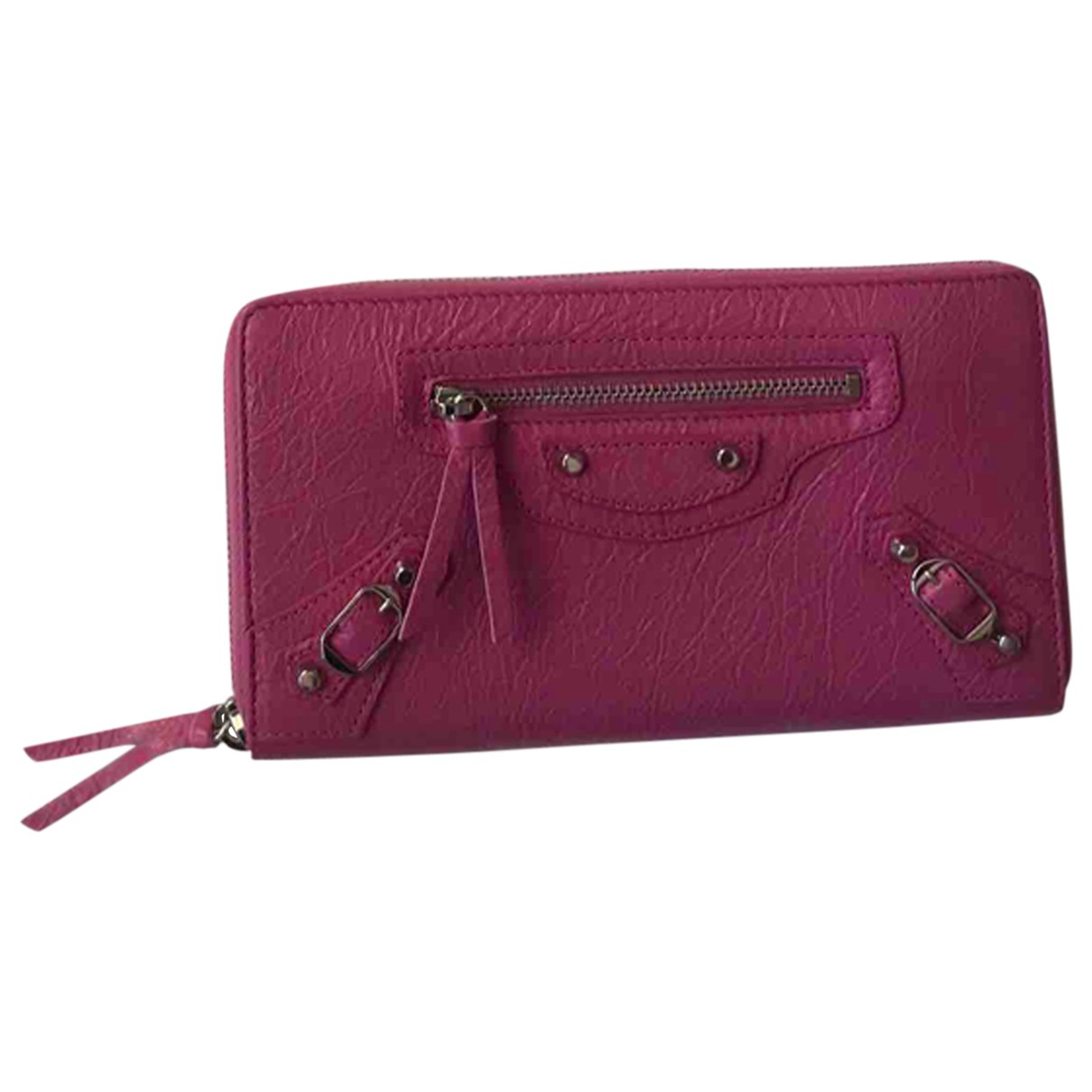 Balenciaga - Portefeuille   pour femme en cuir - rose