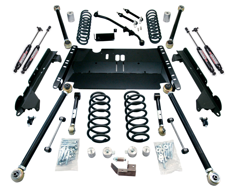 Jeep LJ Unlimited 3 Inch Enduro LCG Long Flexarm Suspension System w/ 9550 Shocks 97-06 Wrangler LJ TeraFlex 1249382