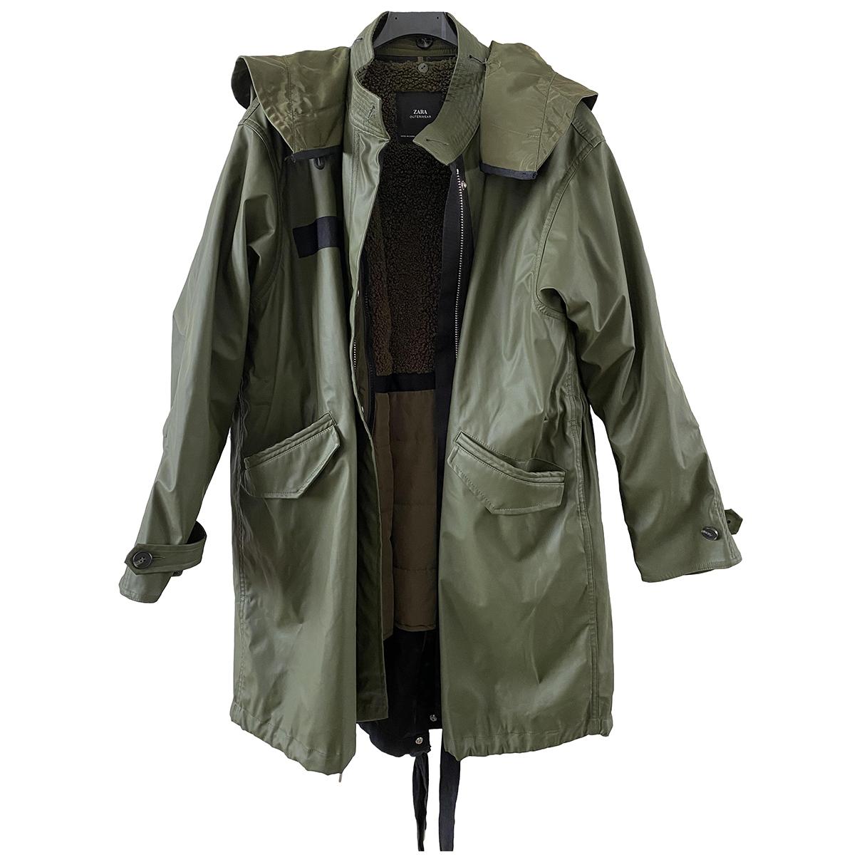 Zara - Manteau   pour homme - kaki