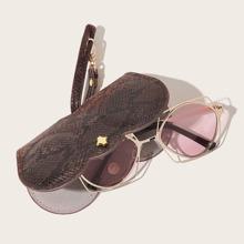 Snakeskin Pattern Glasses Bag