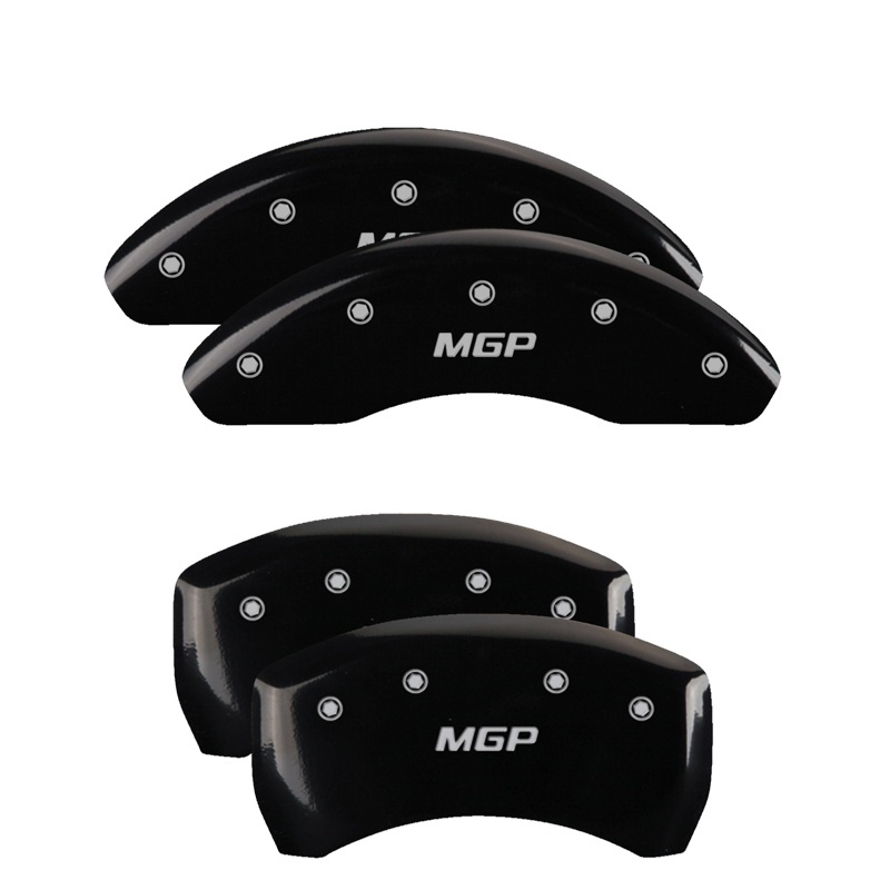 MGP Caliper Covers 38022SMGPBK Set of 4: Black finish, Silver MGP / MGP Lexus ES350 2007-2012