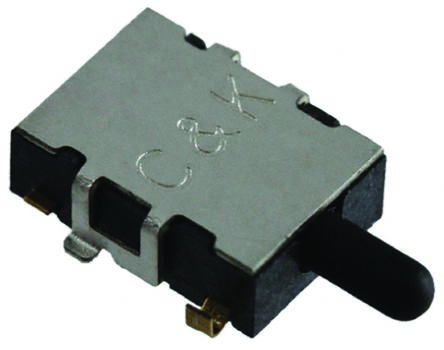 C & K Detector Switch, SPST-NO, 100 mA @ 12 V dc, Gold Flashing