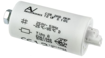 KEMET 12μF Polypropylene Capacitor PP 250V ac ±10% Tolerance Cable Mount C3B Series