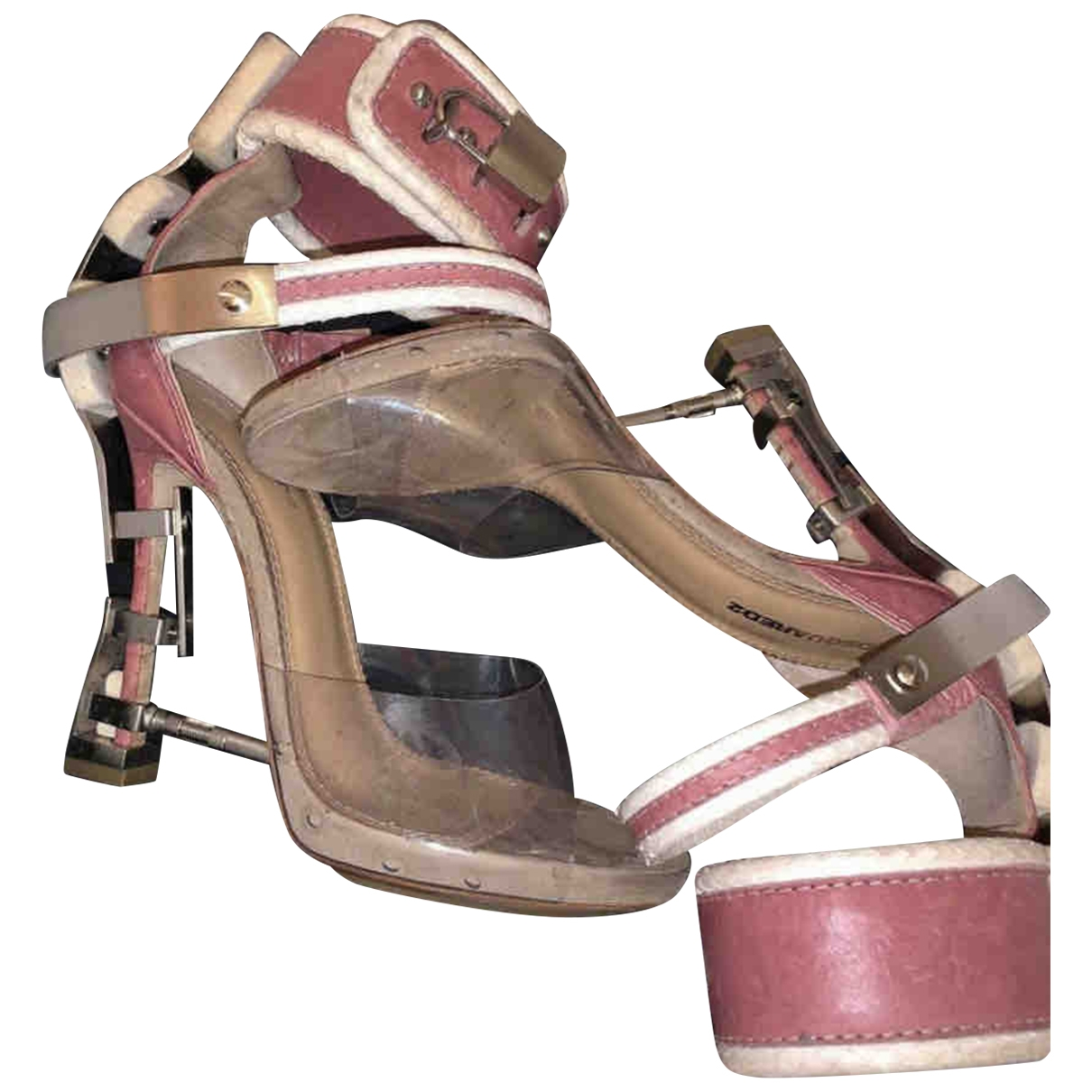 Dsquared2 \N Pink Leather Sandals for Women 37 EU