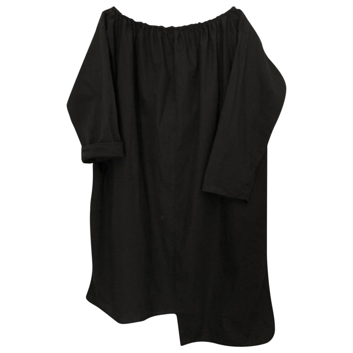 Avn - Robe   pour femme en coton - noir