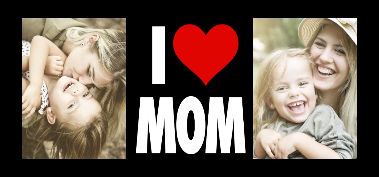 Family + Friends 11 oz. Navy Accent Mug, Gift -Heart Mom