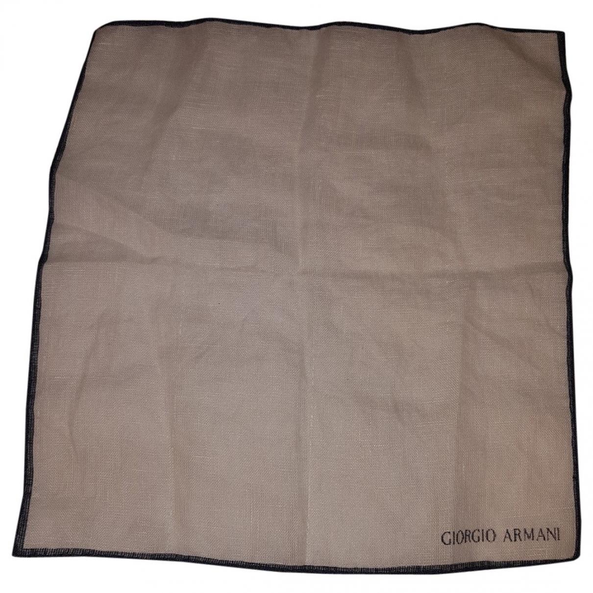 Giorgio Armani \N White Linen scarf & pocket squares for Men \N