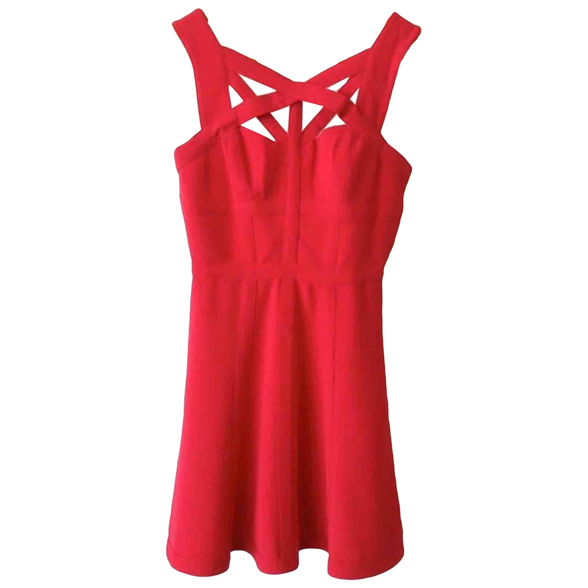 Bcbg Max Azria \N Kleid in  Rot Polyester