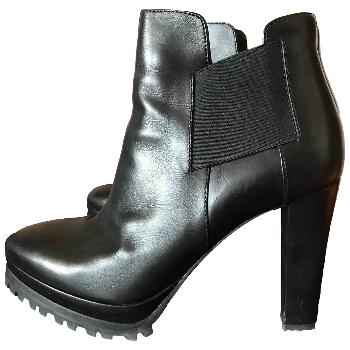 All Saints \N Black Leather Ankle boots for Women 39 EU