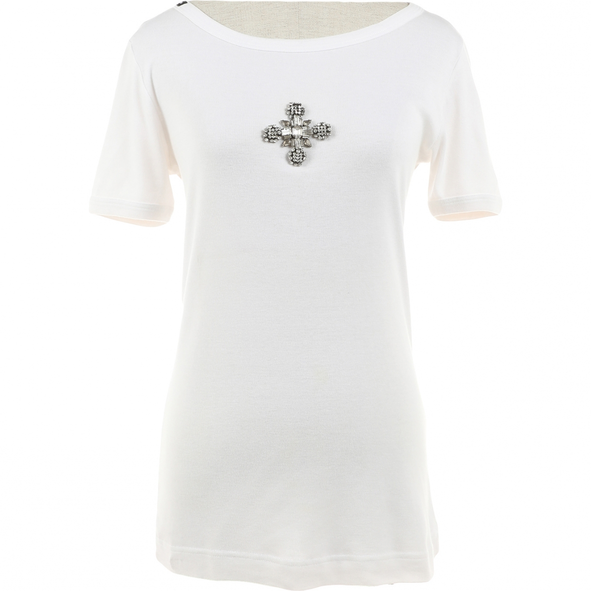 Dolce & Gabbana N White Cotton  top for Women 40 IT