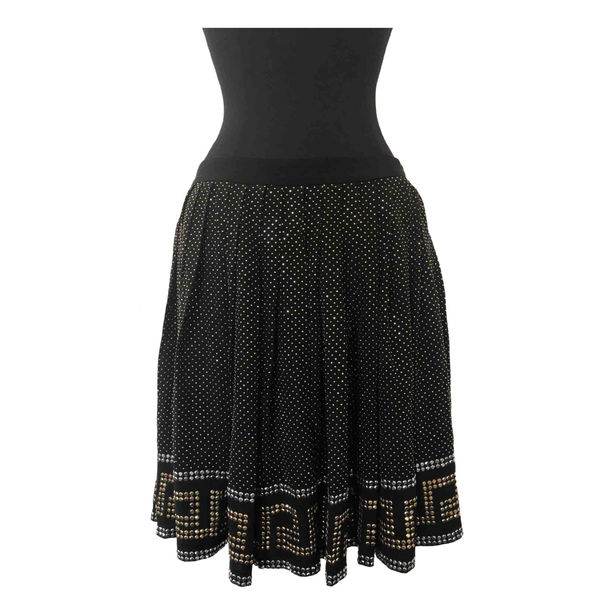 Versace X H&m - Jupe   pour femme en soie - noir