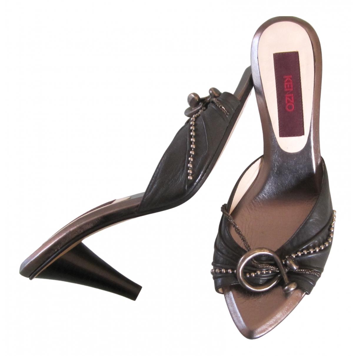 Kenzo \N Sandalen in  Grau Leder