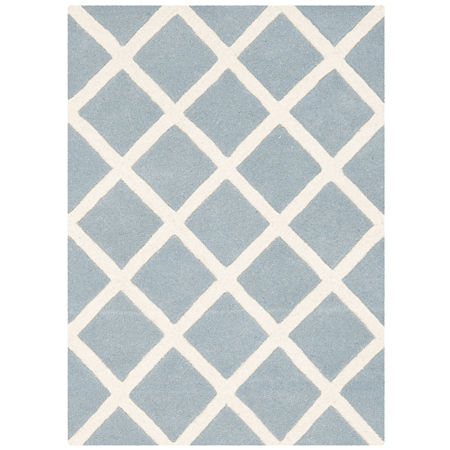 Safavieh Earl Geometric Hand Tufted Wool Rug, One Size , Blue