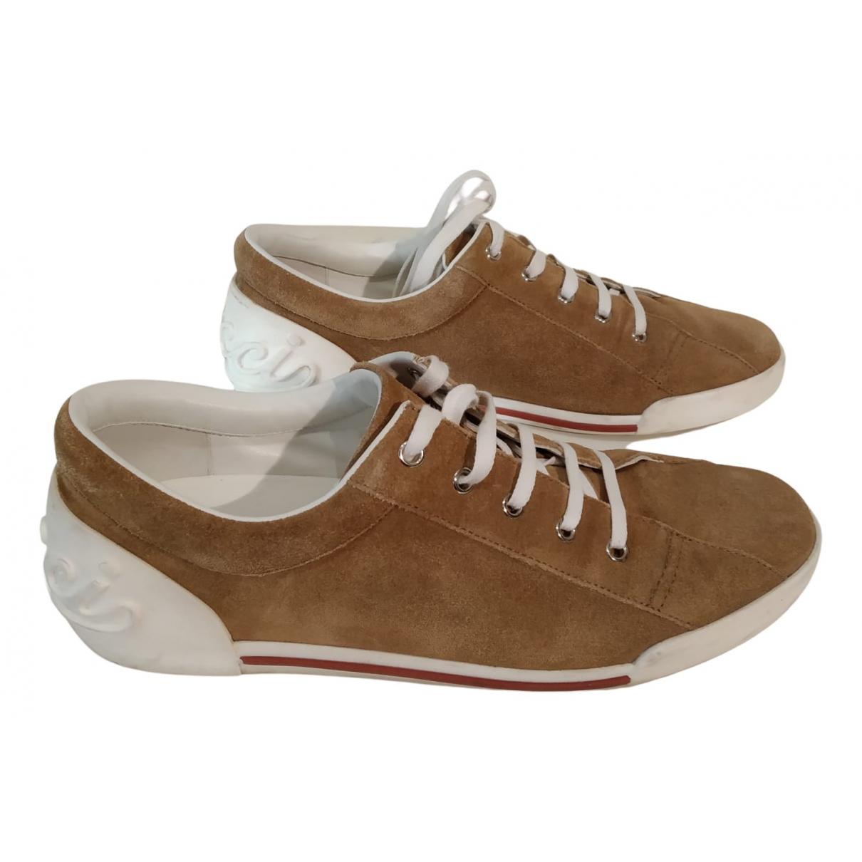 Gucci \N Sneakers in  Kamel Veloursleder