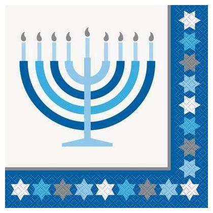 Serviettes de table Starry Hanukkah 16ct