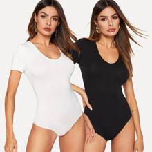 Skinny Tee Bodysuit 2PCS Set