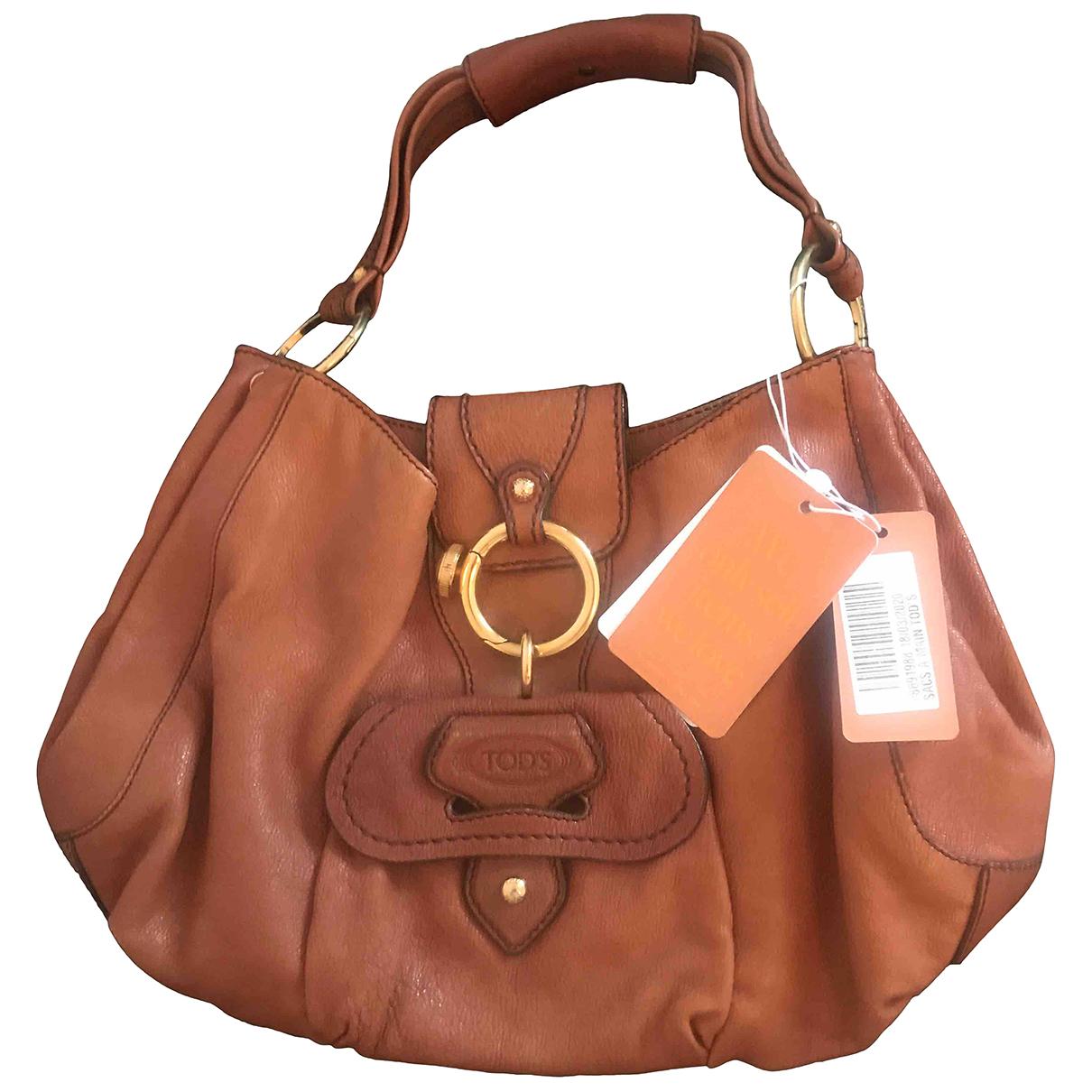 Tods \N Handtasche in  Beige Leder
