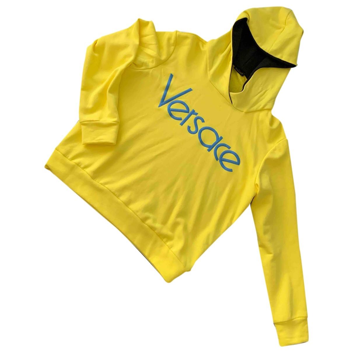 Versace \N Pullover in  Gelb Baumwolle