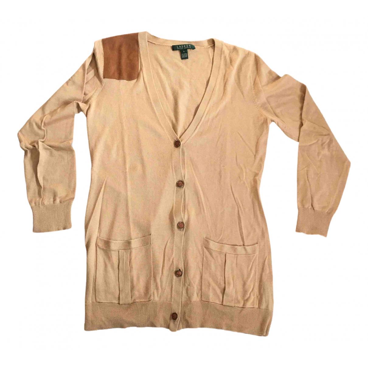 Lauren Ralph Lauren - Pull   pour femme en coton - beige