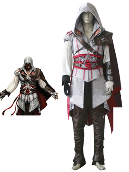 Milanoo Inspired By Assassin's Creed II Ezio Auditore Da Firenze Halloween Cosplay Costume