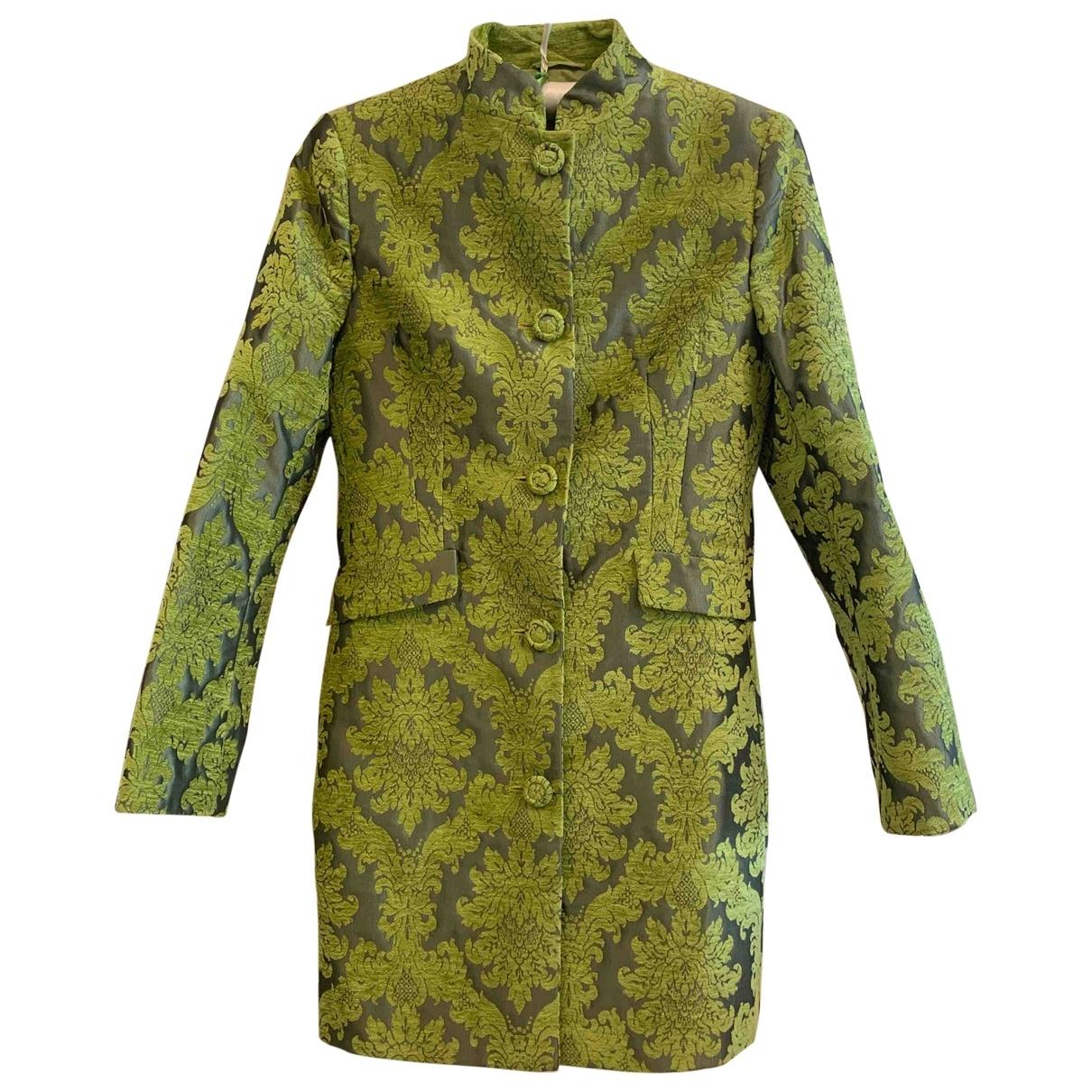 Non Signe / Unsigned \N Maentel in  Gruen Polyester