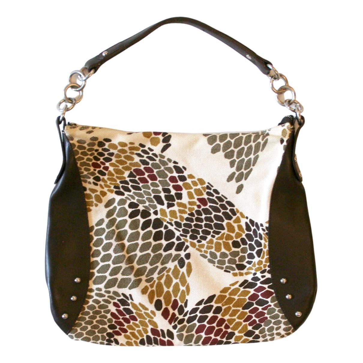 Furla \N Handtasche in  Beige Leinen