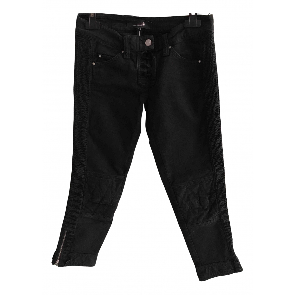 Isabel Marant N Black Cotton Trousers for Women 34 FR