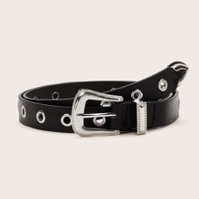 Perforated Strap Metal Buckle Belt