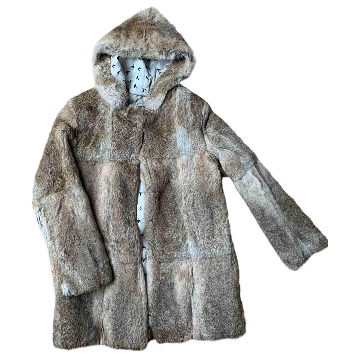 Swildens \N Beige Rabbit coat for Women 38 FR