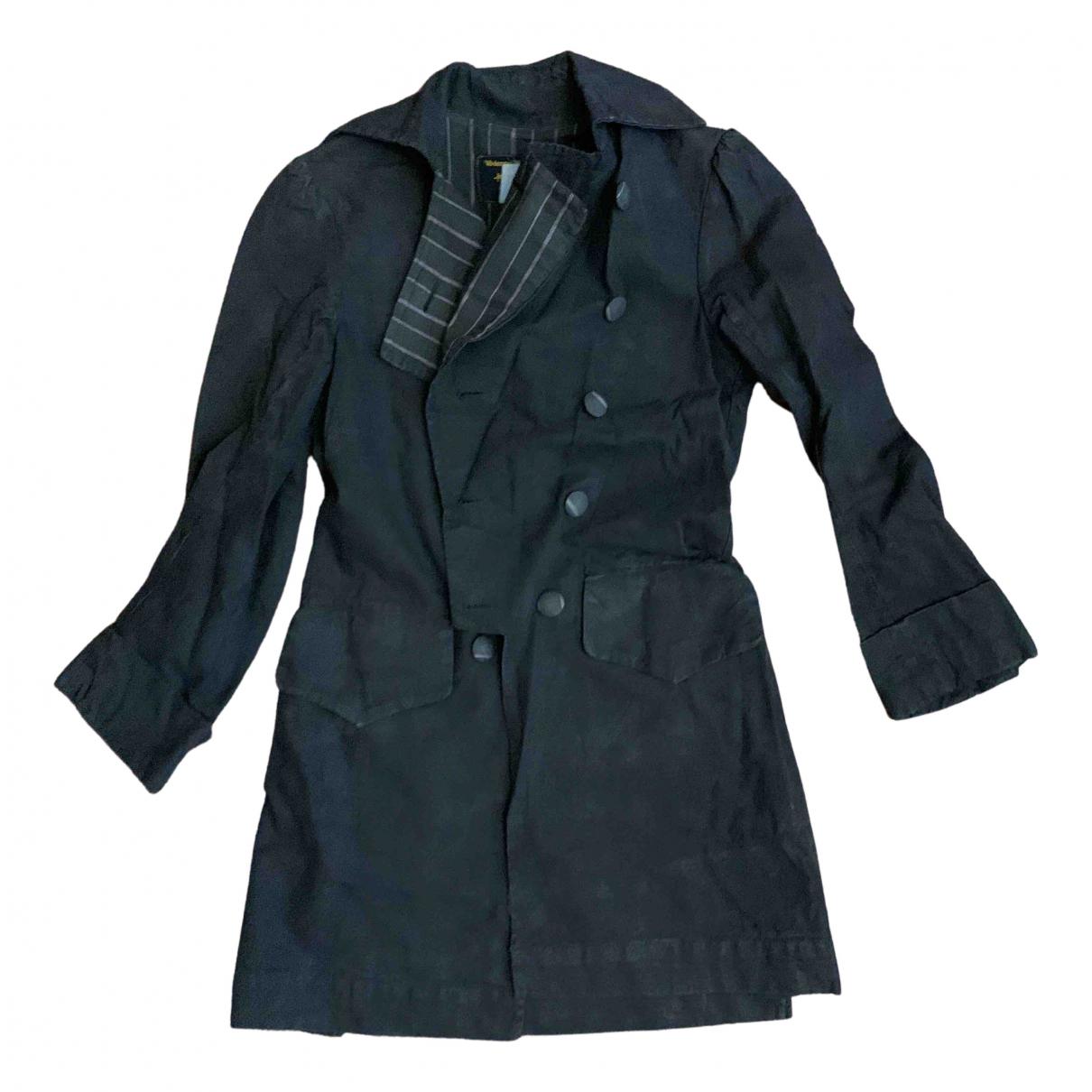 Vivienne Westwood Anglomania - Manteau   pour femme en coton - marron