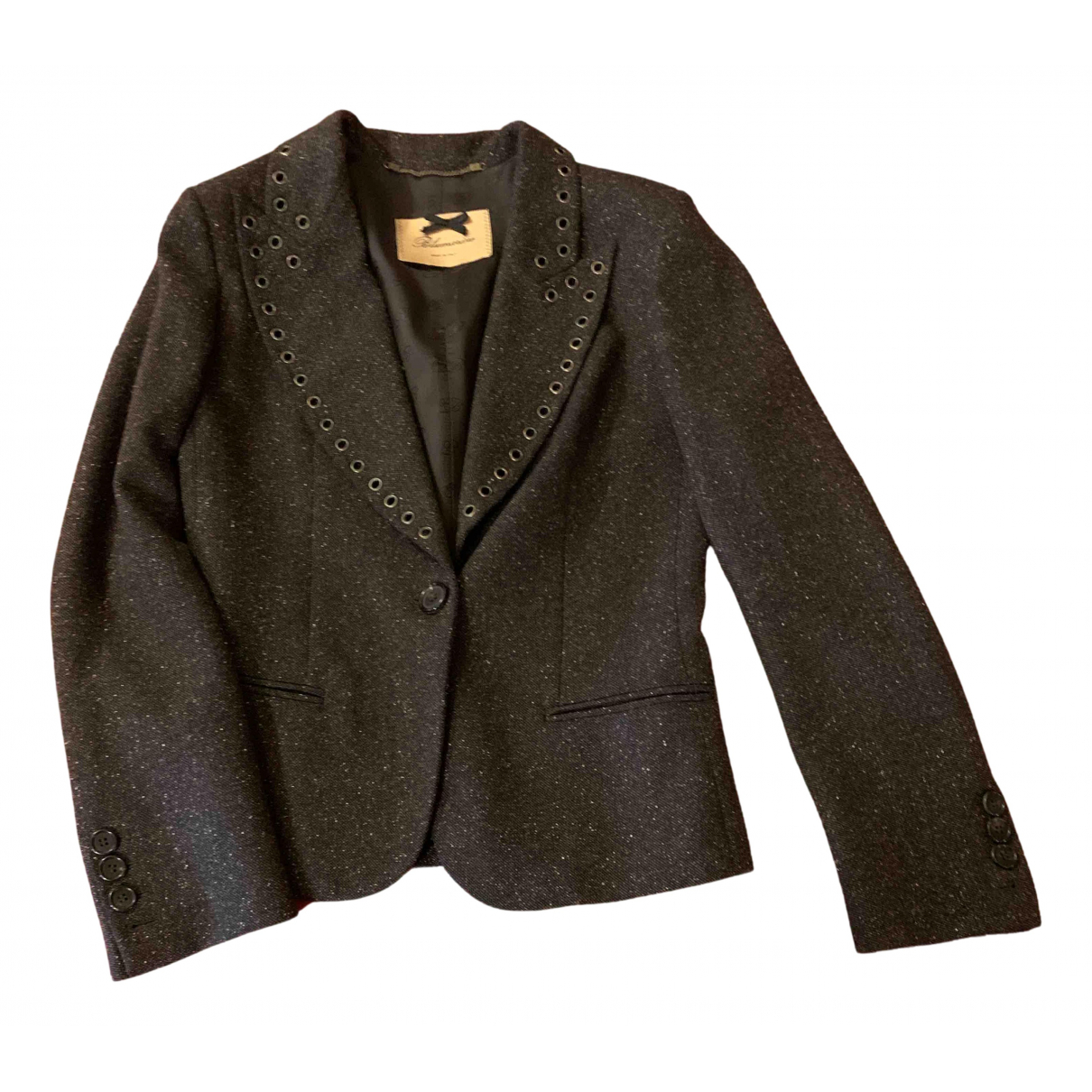 Blumarine N Brown Wool jacket for Women 46 IT