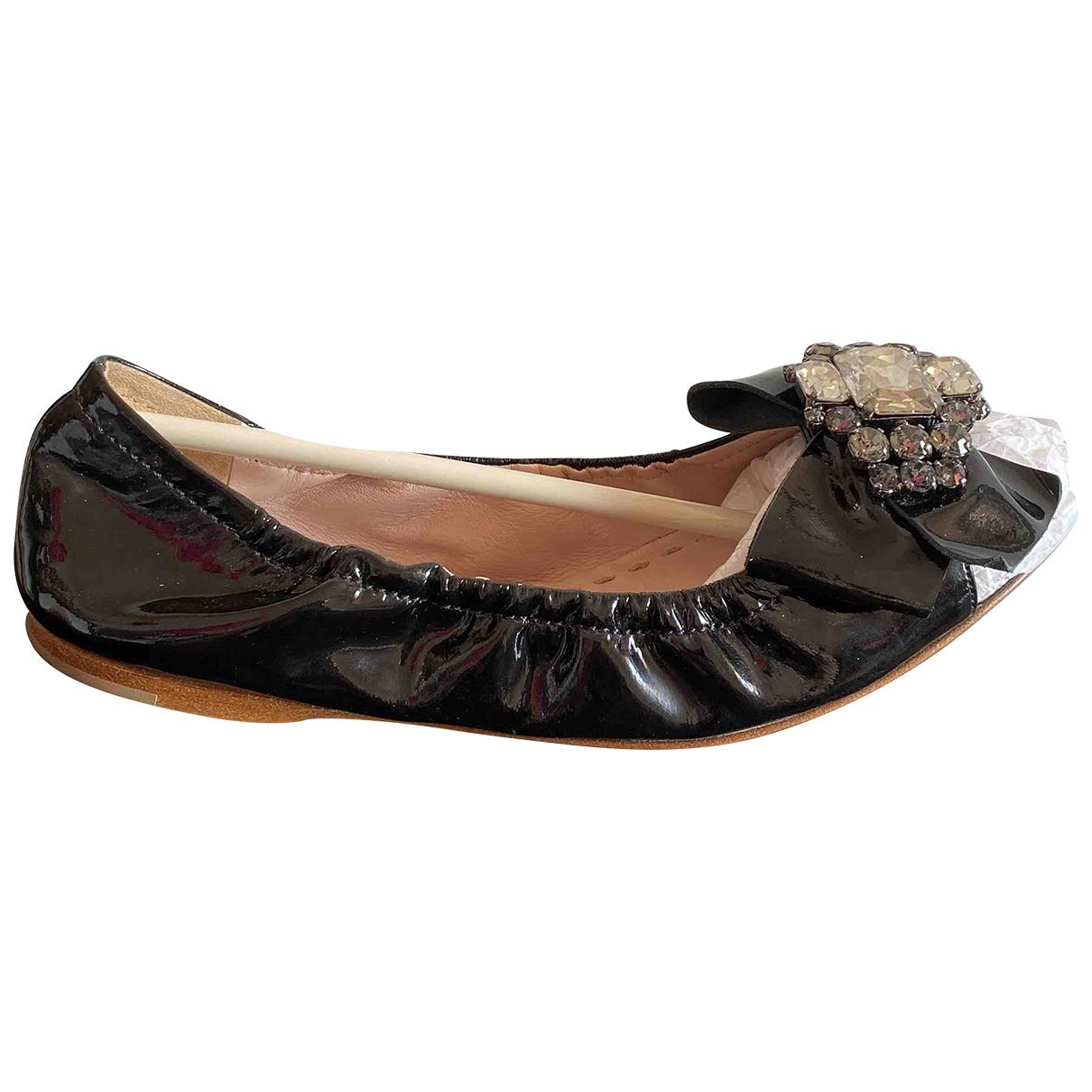 Miu Miu \N Black Patent leather Ballet flats for Women 36.5 EU
