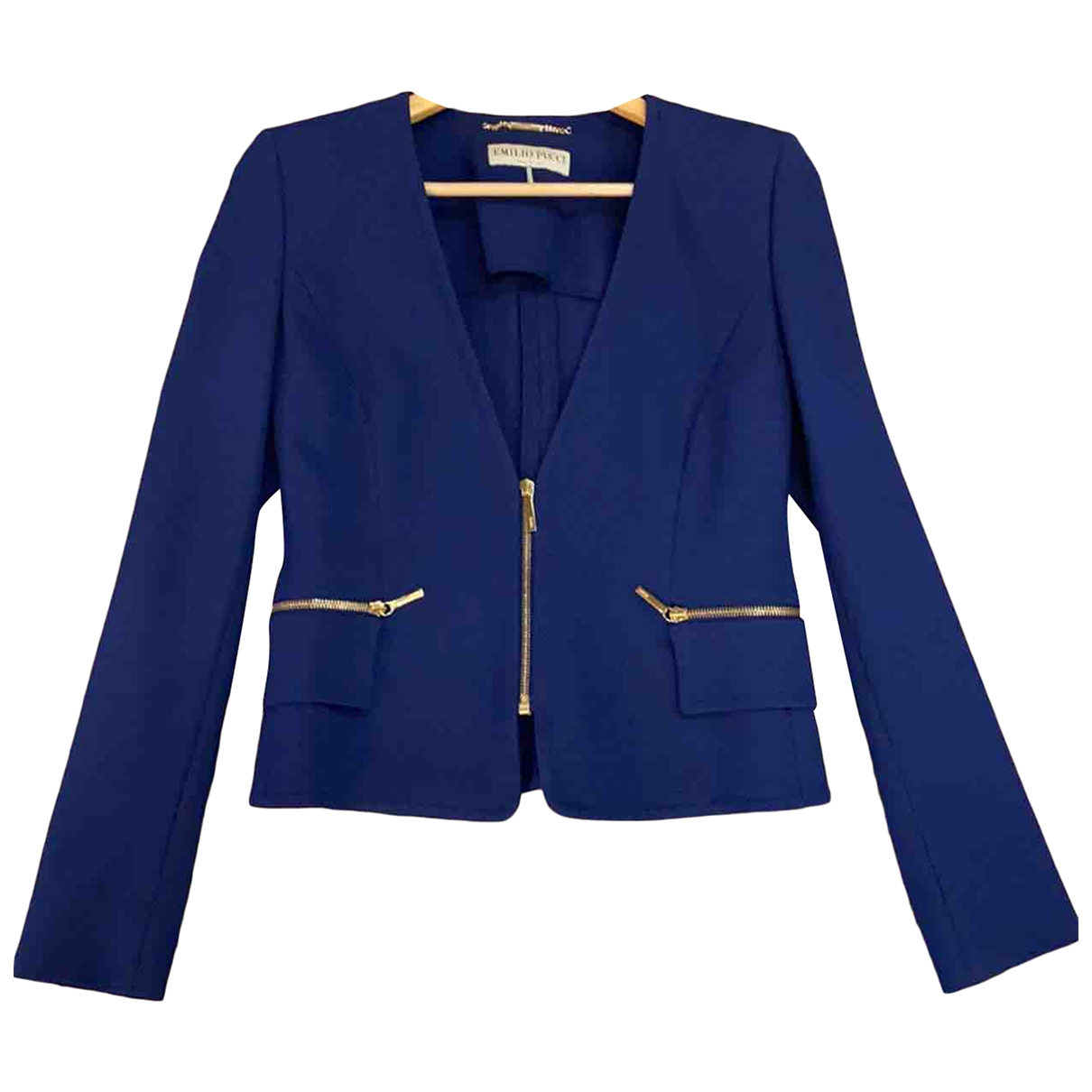 Emilio Pucci \N Blue jacket for Women 46 IT