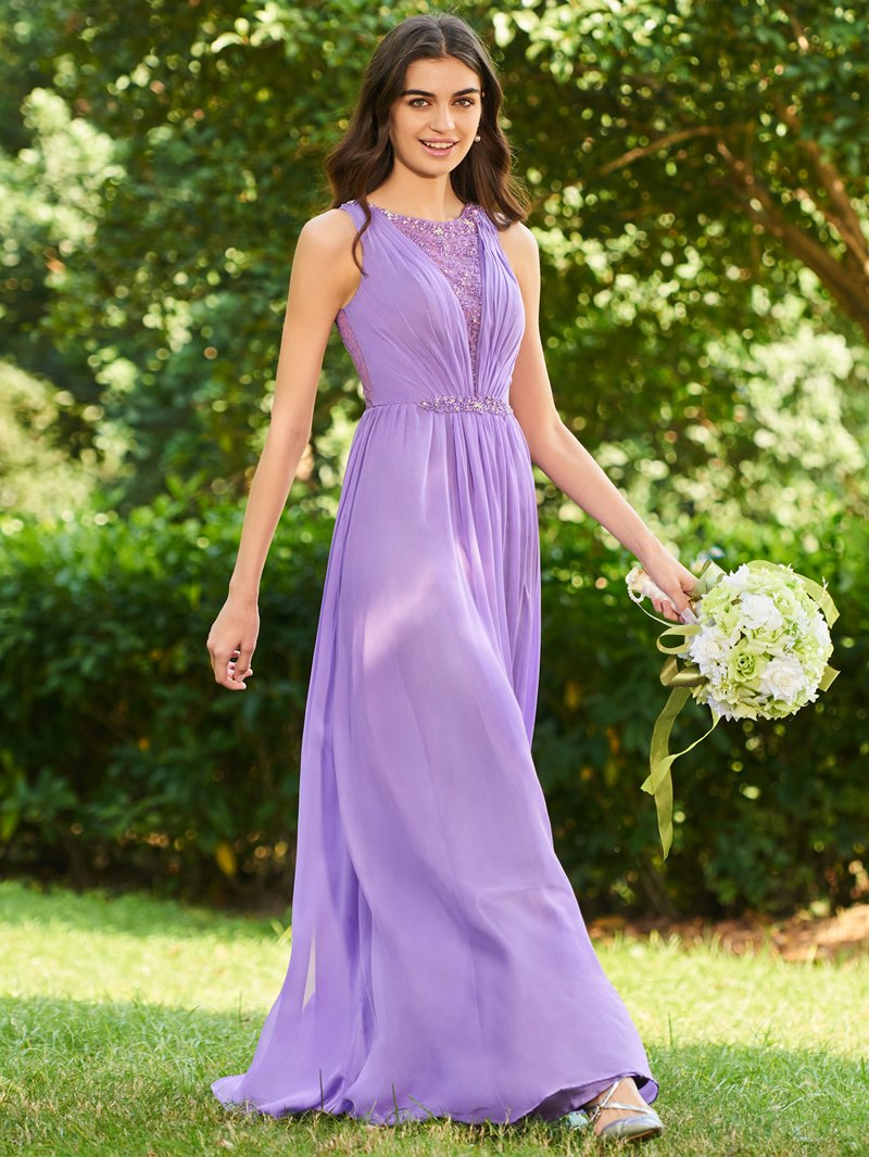 Ericdress Lace Beaded Bridesmaid Dress