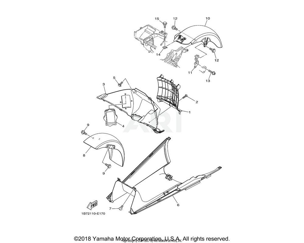 Yamaha OEM 1B7-21557-10-00 DUCT, AIR