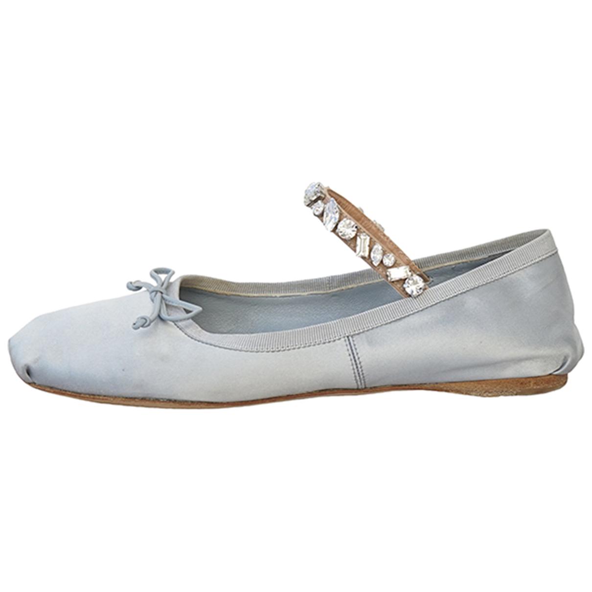 Miu Miu \N Blue Cloth Ballet flats for Women 37.5 EU