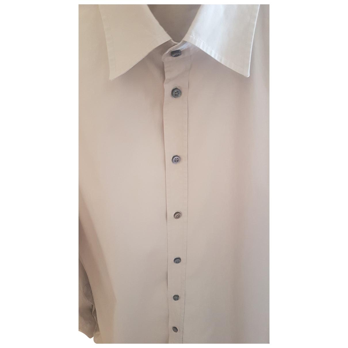 Dsquared2 \N Beige Cotton Shirts for Men M International