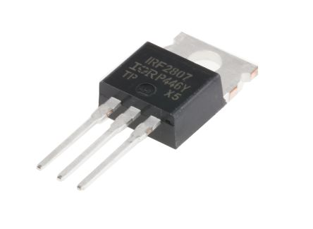 Infineon N-Channel MOSFET, 82 A, 80 V, 3-Pin TO-220AB  IRF2807PBF