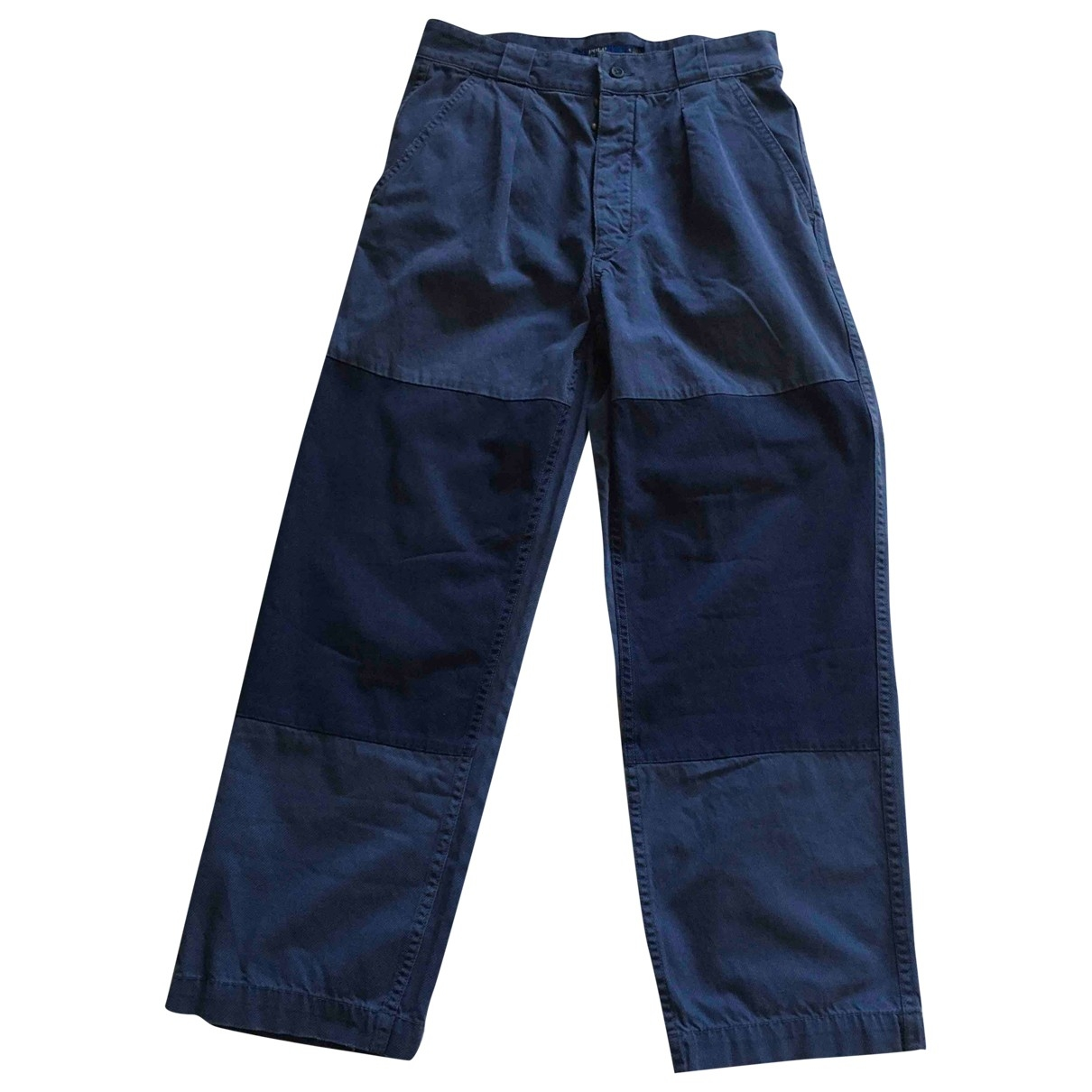 Polo Ralph Lauren \N Blue Cotton Trousers for Women 4 US