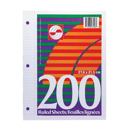 APP® Lined Ruled Loose Leaf Sheets, 8-1/2