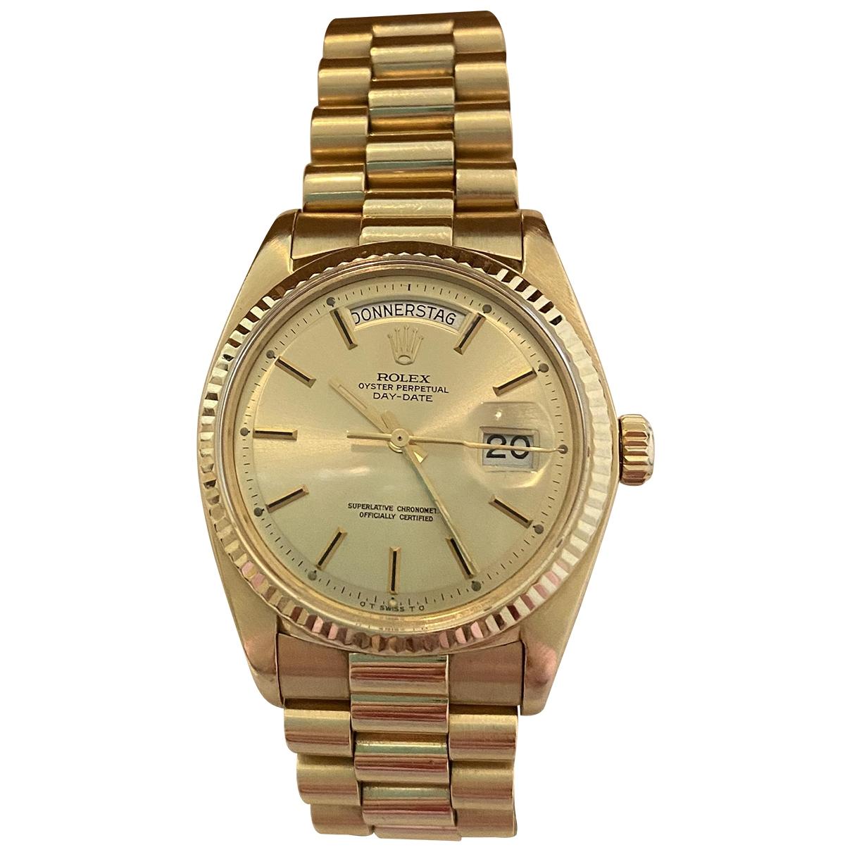 Rolex - Montre Day-Date 36mm pour femme en or jaune - dore