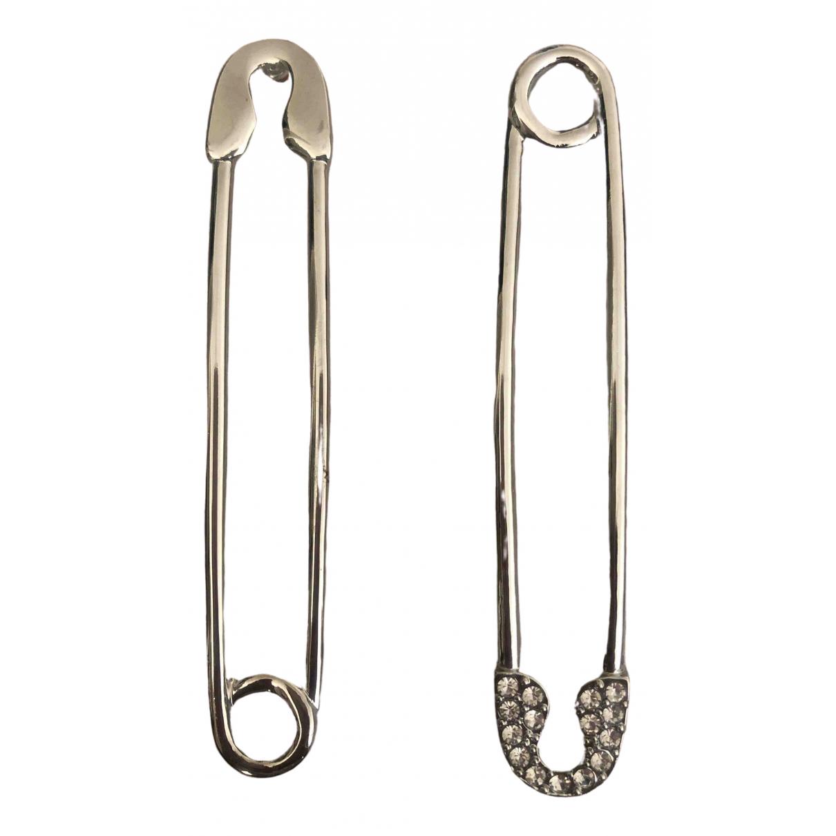 tophop \N Silver Metal Earrings for Women \N