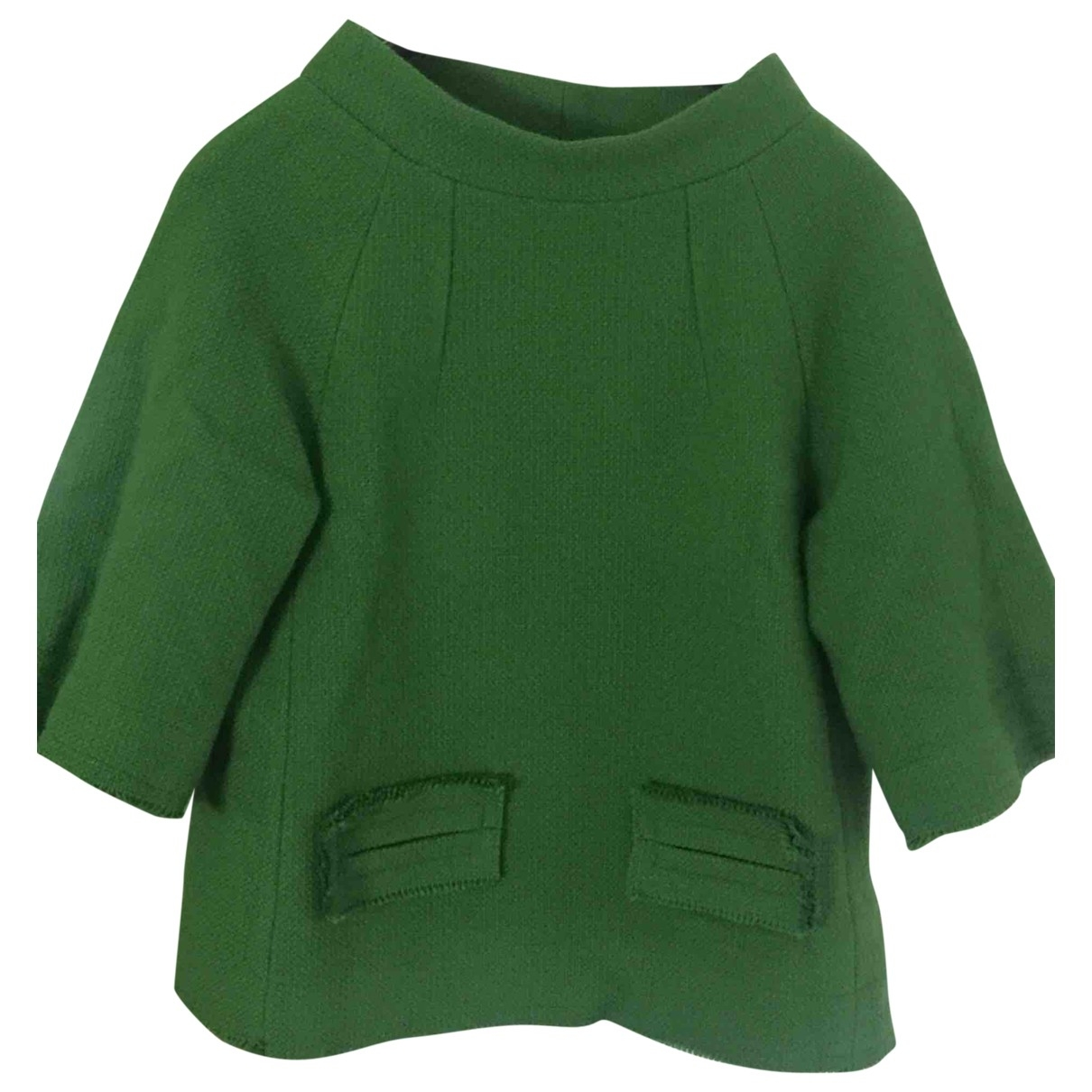 Non Signe / Unsigned \N Pullover in  Gruen Wolle