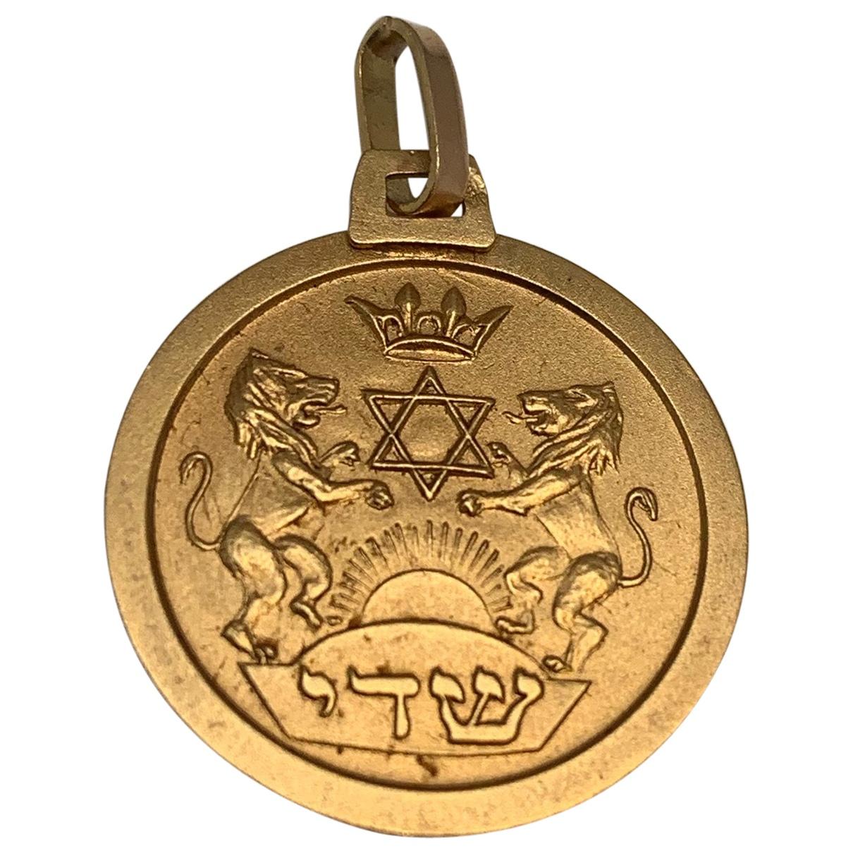 - Pendentif Motifs Religieux pour femme en or jaune - jaune