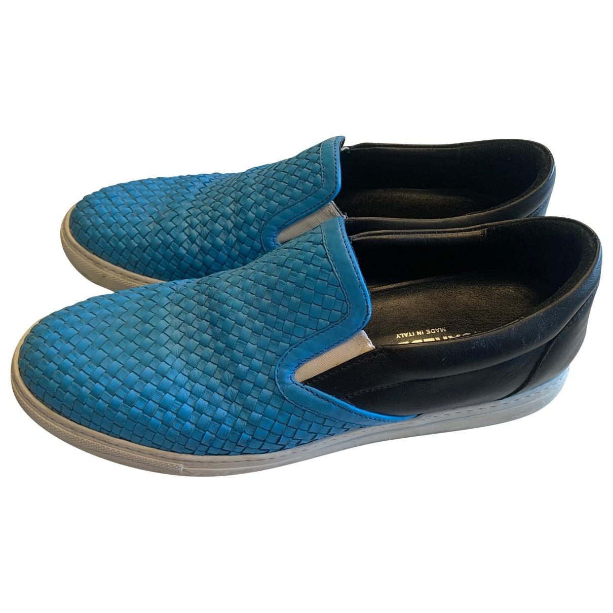 Dsquared2 - Baskets   pour homme en cuir - turquoise