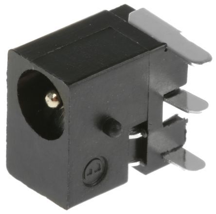 Lumberg Through Hole Right Angle Industrial Power Socket, Rated At 500.0mA, 6.0 V