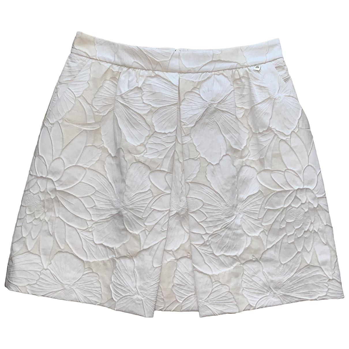 Twin Set - Jupe   pour femme en coton - blanc