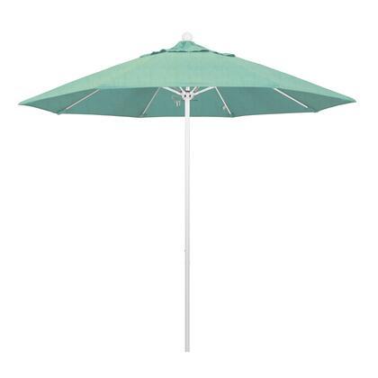 ALTO908170-48020 9' Venture Series Commercial Patio Umbrella With Matted White Aluminum Pole Fiberglass Ribs Push Lift With Sunbrella 1A Spectrum
