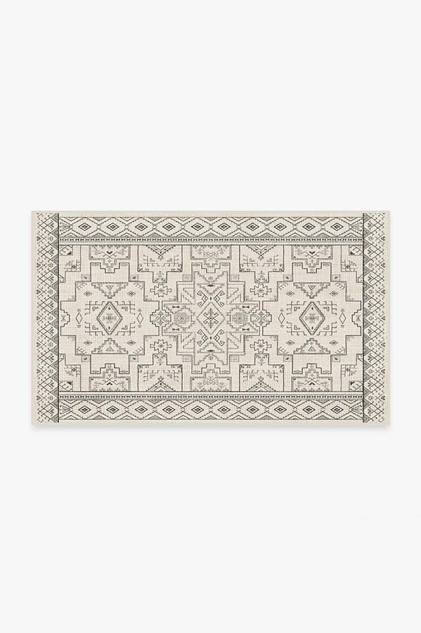 Washable Rug Cover | Leelu Black & White Rug | Stain-Resistant | Ruggable | 3'x5'
