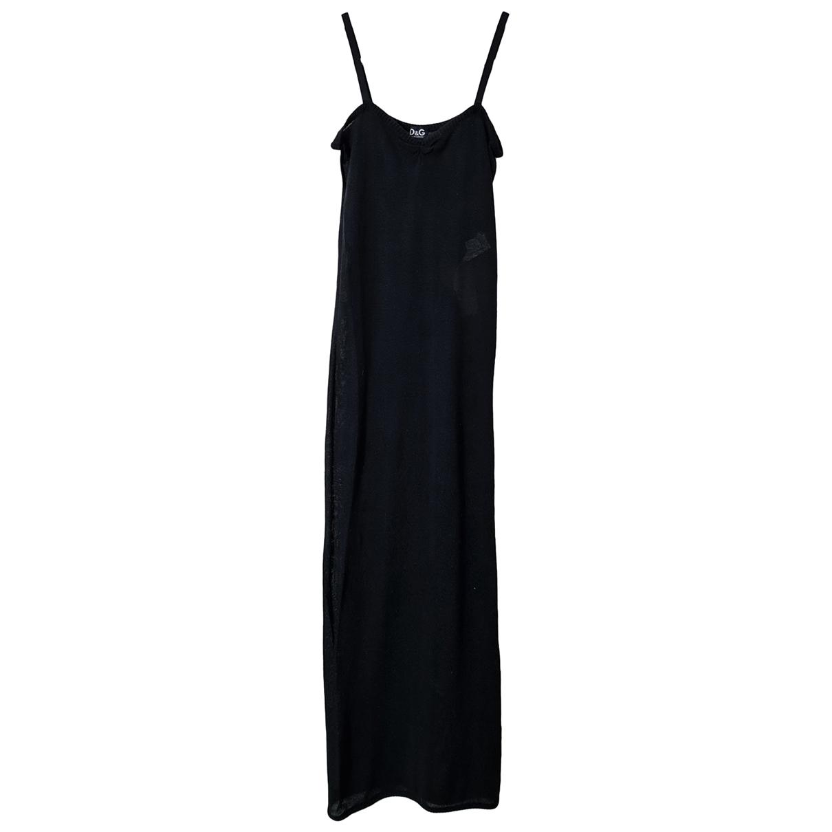 D&g - Robe   pour femme en coton - noir